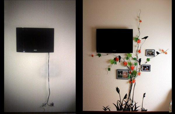 Как правильно повесить телевизор на стену: установка на кронштейн и самодельное крепление
